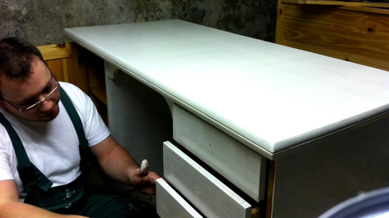 Schreibtisch streichen   youtube