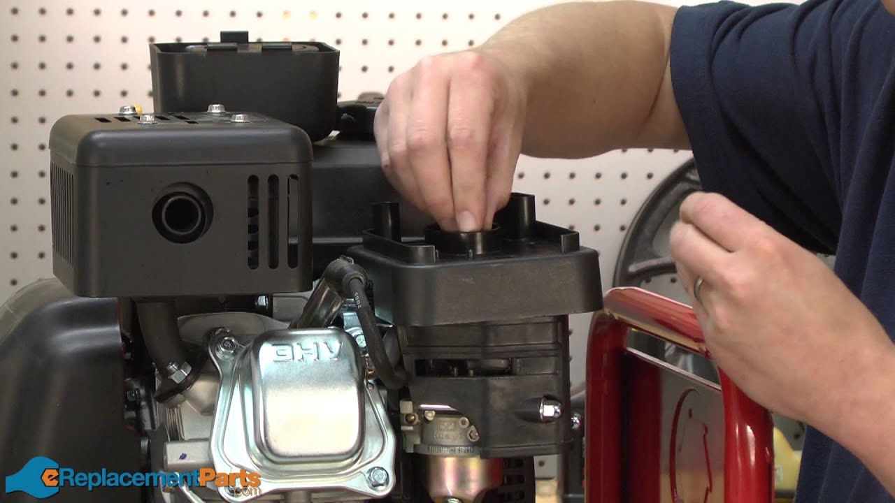 How To Replace The Air Filter Base On A Troy Bilt Super Bronco Fuel Tiller Part 951 12135