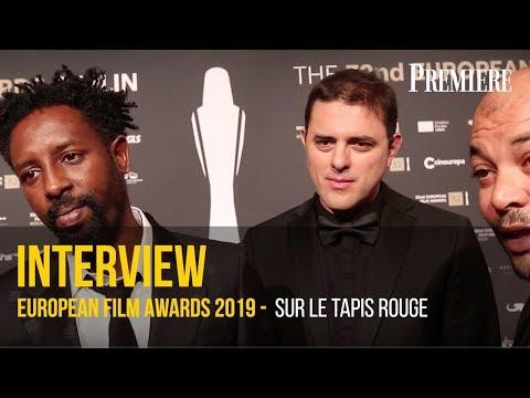 Sur le tapis rouge des European film Awards 2019