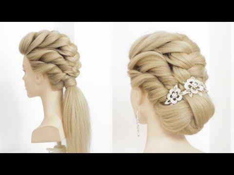2 Прически на длинные волосы на основе жгутов.