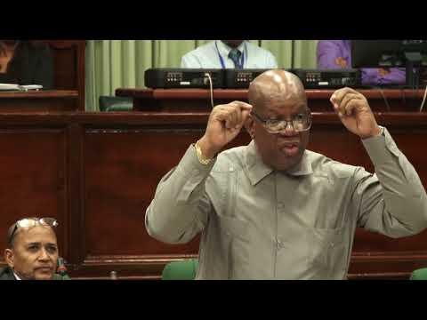 Mininster of Finance Winston Jordan debate on Budget 2018
