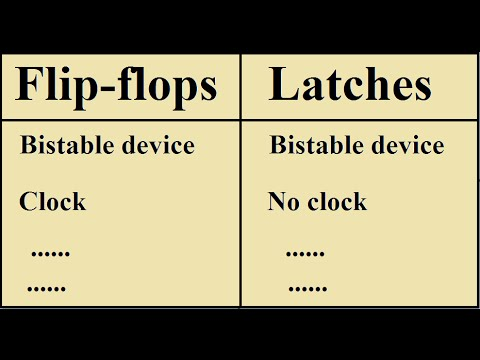 Flip-Flops and Latches : Comparisons/Differences