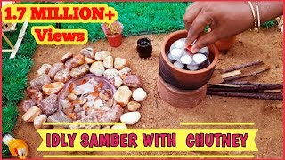 Idly || Sambar With Chutney || EP#10 ||Tiny Chutti Cooking