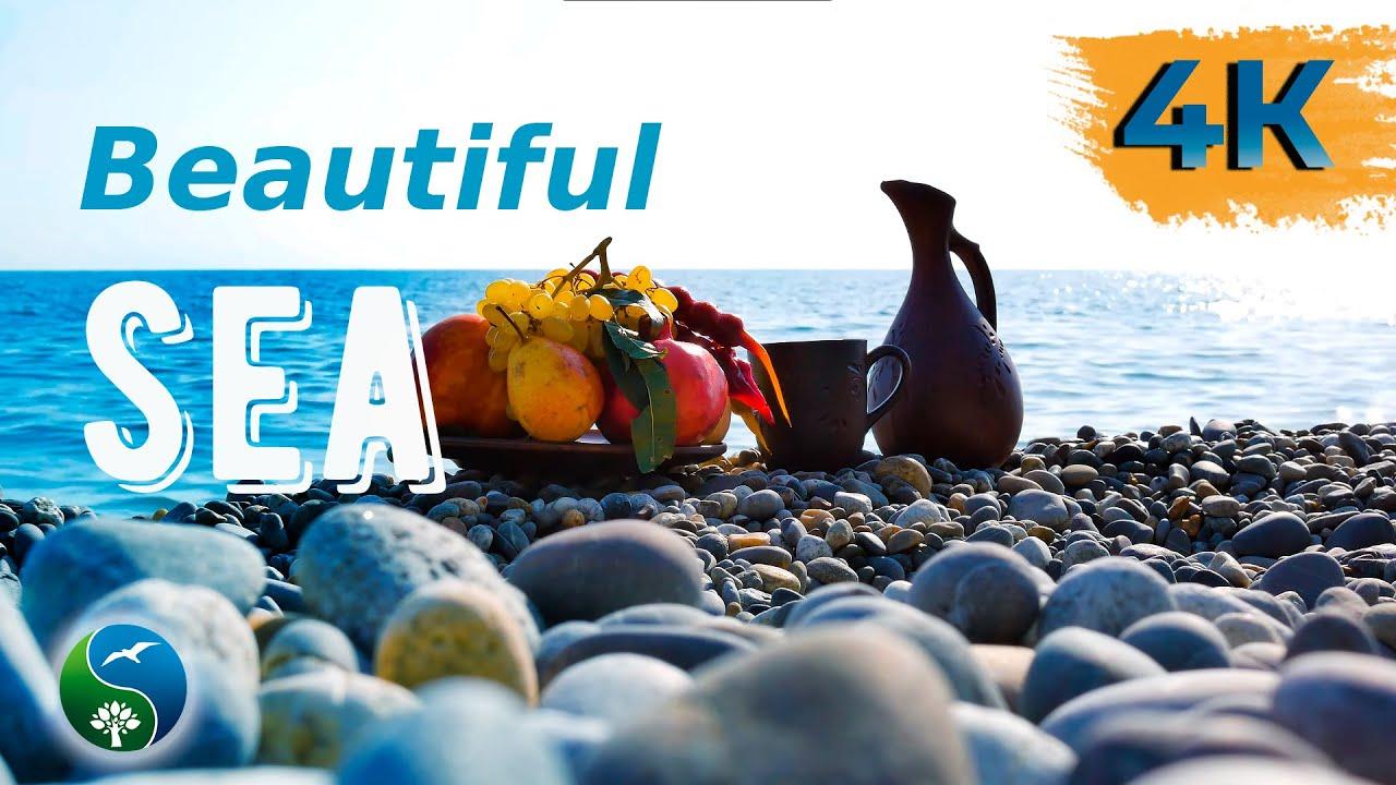 Шум Моря и Звуки Моря, Морской Бриз | Звуки Природы и Красивое море | Море, Натюрморт на берегу моря