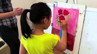 Creative Art Class How to Draw Flowers, Mark Twain Art Class in NYC