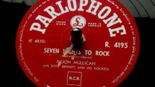 Moon Mullican - Seven nights to rock 78 rpm 1956