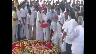 Tamil Nadu: DMK pays tribute to Karunanidhi