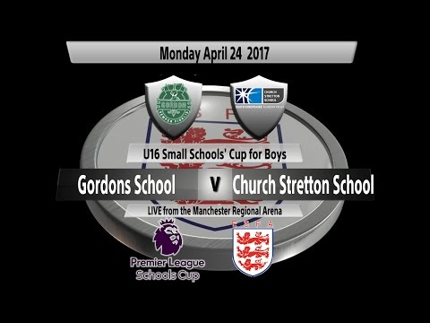 Premier League U16 Small Schools' Cup for Boys: Gordon's School vs. Church Stretton