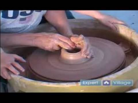 Pottery Crafts for Kids : How to Start a Pottery Piece on a Pottery Wheel