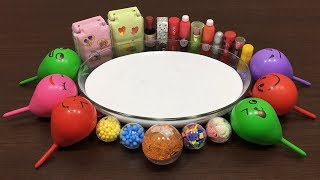 MIXING MAKEUP AND FLOAM INTO SLIME!!! RELAXING SLIME WITH FUNNY BALLOONS