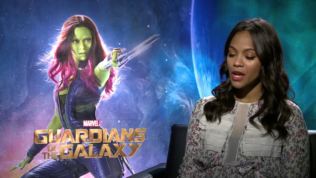 Zoe Saldana on making Gamora beautiful in 'Guardians of ...