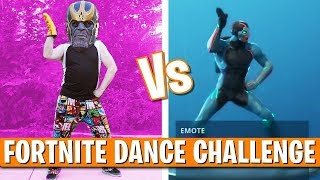 FORTNITE DANCE CHALLENGE IN REAL LIFE!! (All New Dances) with THANOS