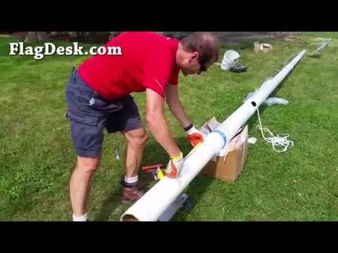 FlagDesk.com | How To Install A Fiberglass Flagpole