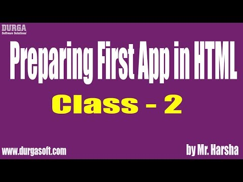 Learn HTML, CSS, JavaScript, Bootstrap Tutorial Online Training | Class - 2 | By Harsha Sir