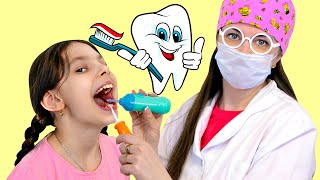 Going To The Dentist Song   Evy Pretend Play Sing-Along to Nursery Rhymes Kids Songs