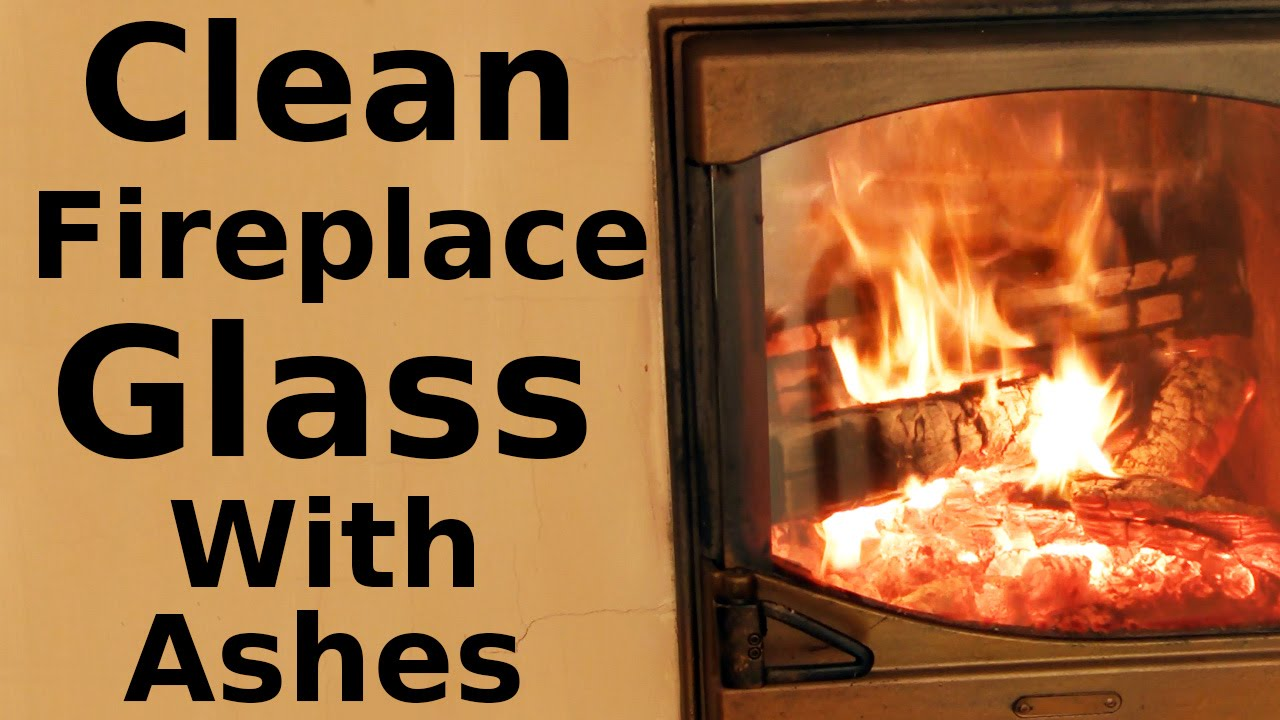 How to Clean Fireplace Glass with Ashes - YouTube