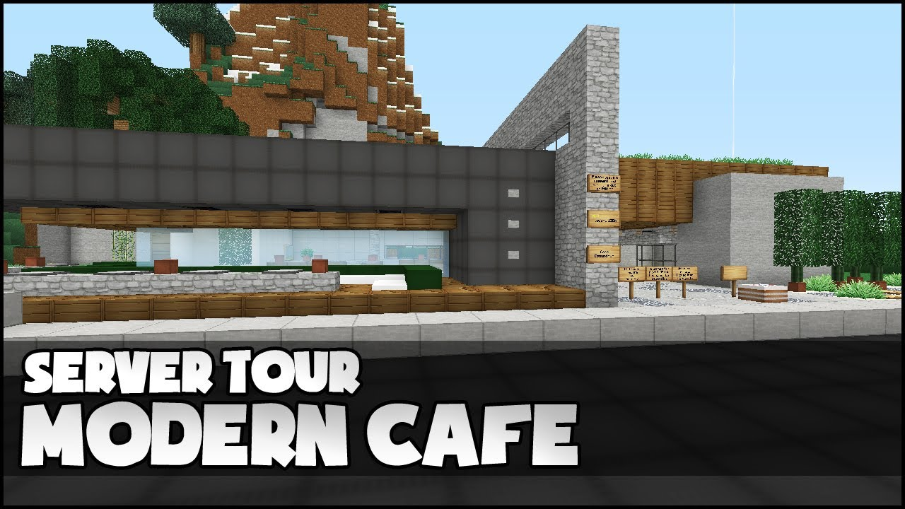 Minecraft Modern Cafe Youtube
