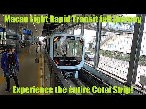 Macau Light Rapid Transit Full Journey on the Taipa Line via the Cotai Strip