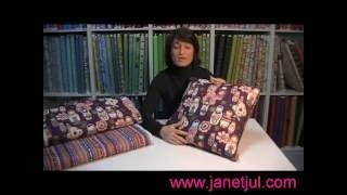 Como realizar un cojín con tela, tutorial de Jan et Jul