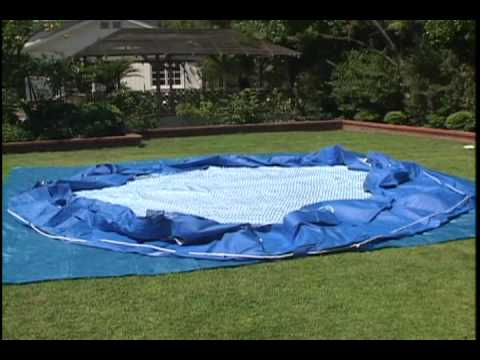 Intex frame pool instruction video youtube for Obi fast set pool