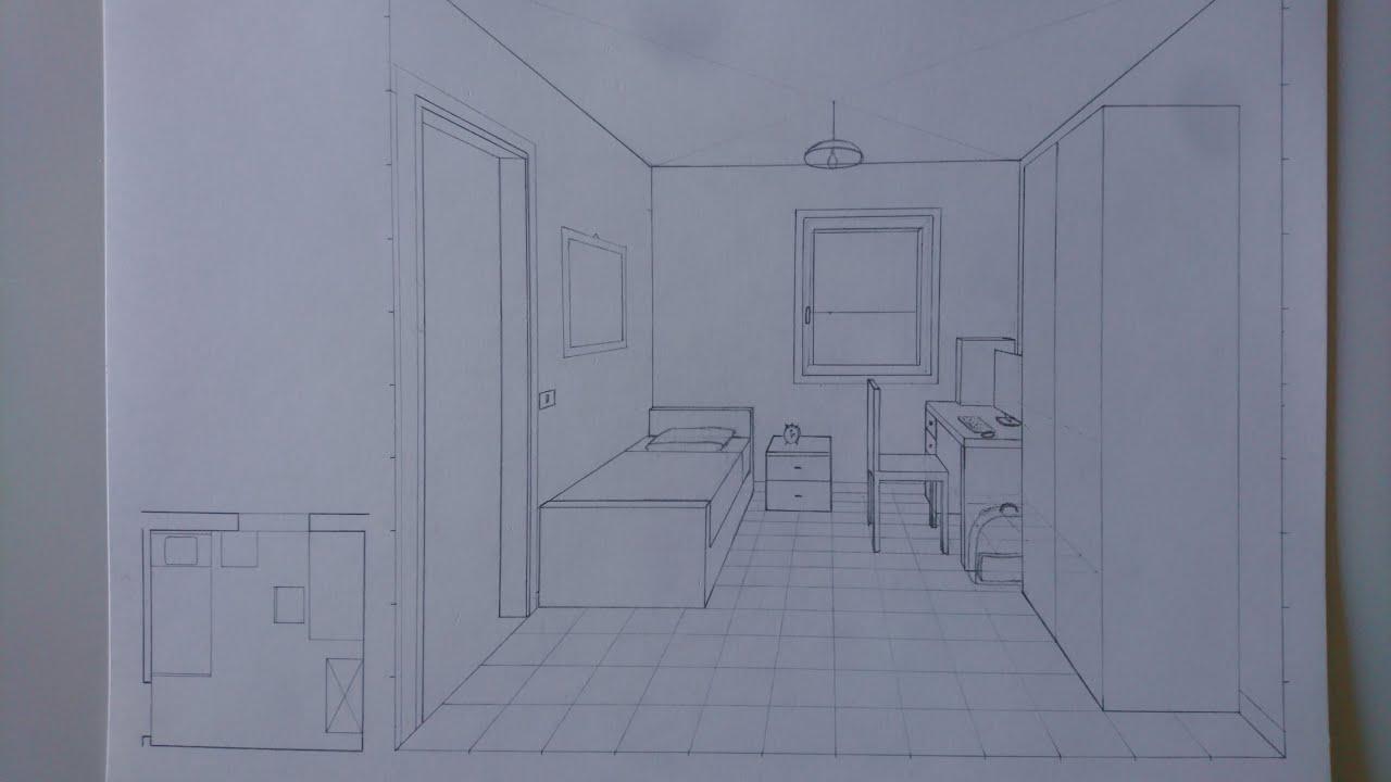 Camera Da Letto In Prospettiva Centrale disegnare una stanza in prospettiva centrale - elementi di dettaglio