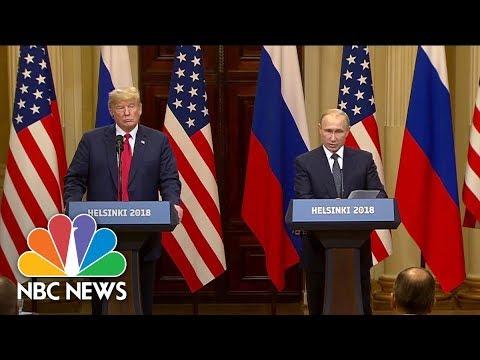 Special Report: President Trump And Vladimir Putin Meet In Helsinki, Finland   NBC News