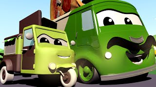 The CANDY PIZZA Mix up! - Baby Cars in Car City - Cartoon for kids