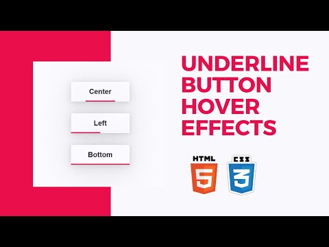 Create Underline Button Hover Effects | Pure CSS