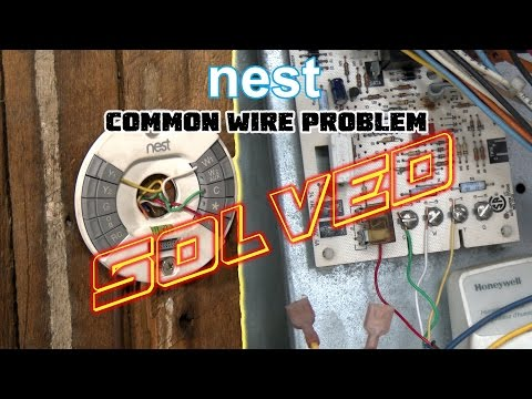 """Nest Thermostat No Common Wire- PROBLEM SOLVED -How To Install Nest Missing Common """"C"""" Wire"""
