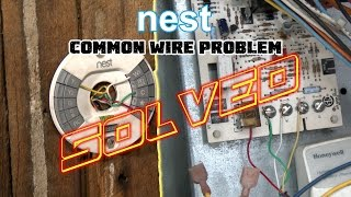 "Nest Thermostat No Common Wire- PROBLEM SOLVED -How To Install Nest Missing Common ""C"" Wire"
