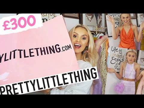 HUGE £300 PRETTY LITTLE THING HAUL / TRY ON