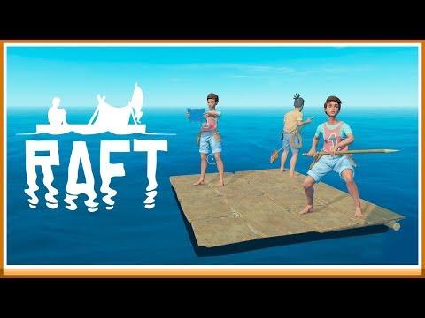 LIVET PÅ EN FLOTTE! - Raft Co-op #1