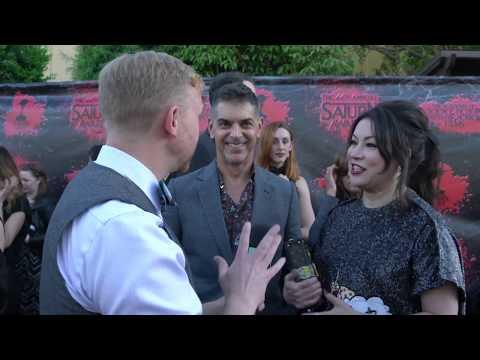 Dan Mancini and Jennifer Tilly at the 44th Annual Saturn Awards.
