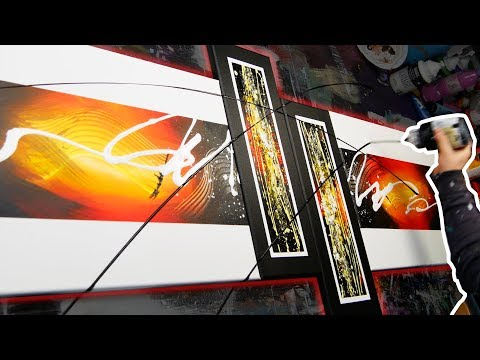how-to-create-an-awesome-abstract-painting-|-speedart-demonstration-|-melody