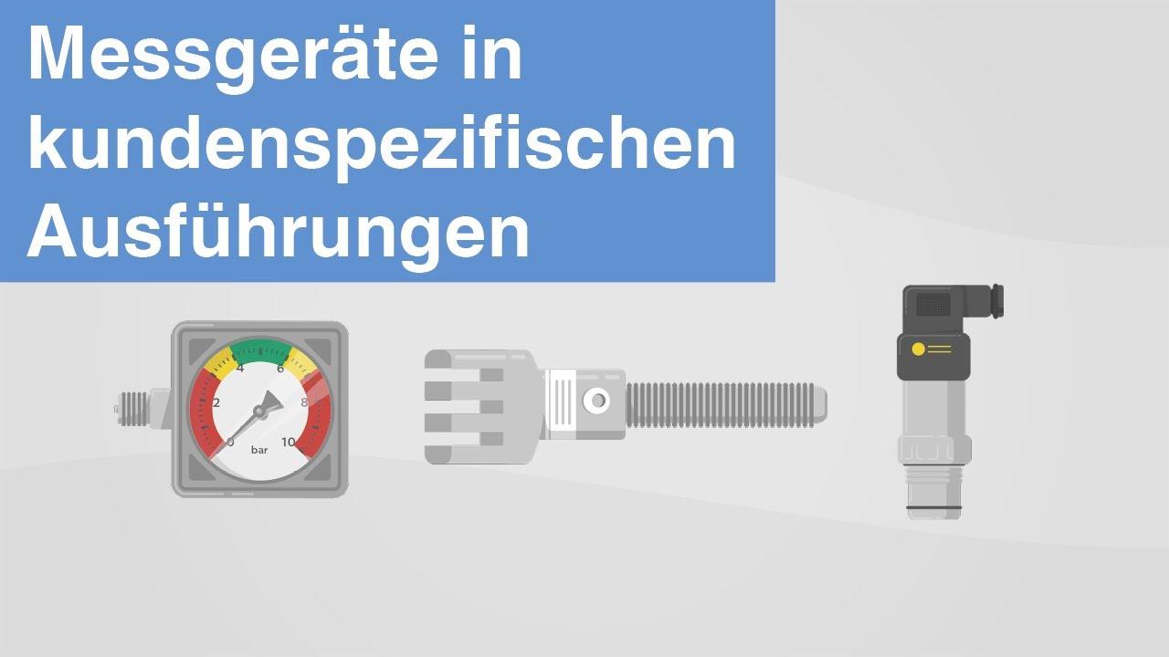 Druck, Temperatur, Kraft | WIKA Messgeräte in kundenspezifischen Ausführungen