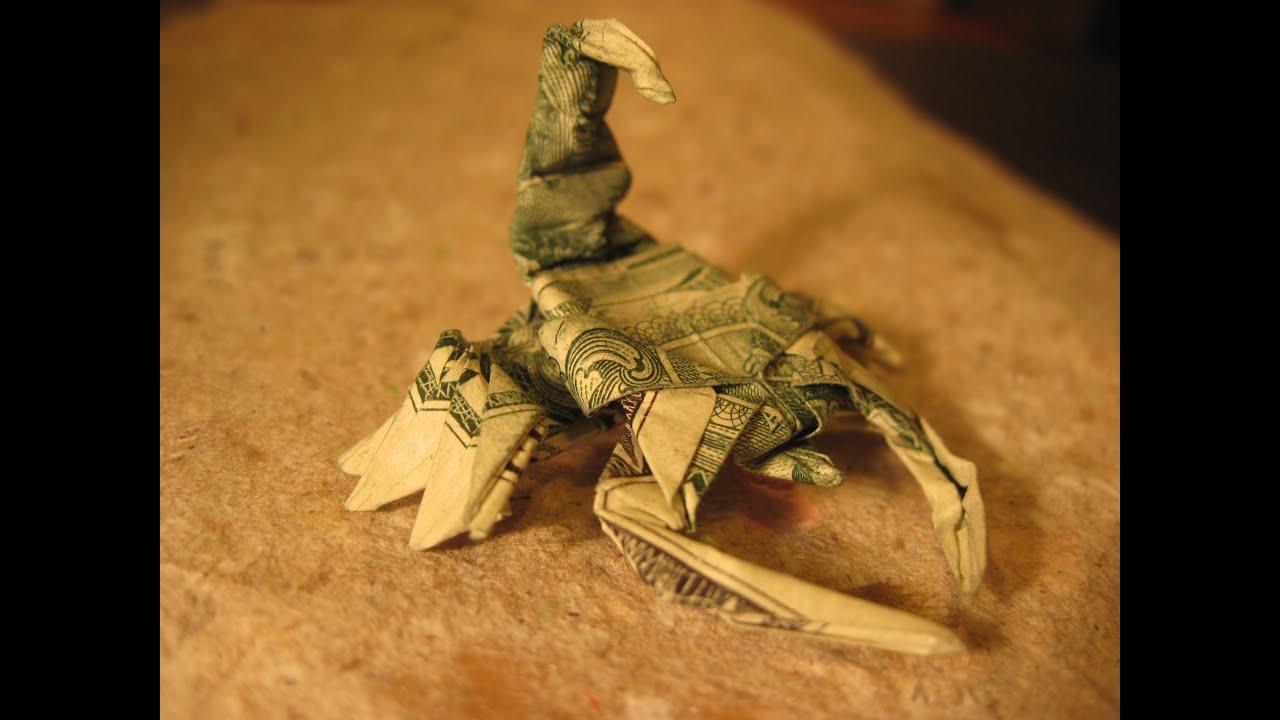 Dollar Origami Won Park Scorpion Steps 16 22 Not Full Model