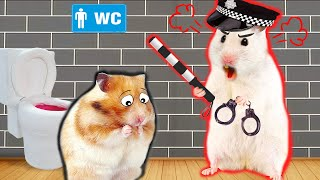 Hamster Escape Maze Hamster Police Pet with Traps - Funny Cartoon in Life Of Pets Hamham