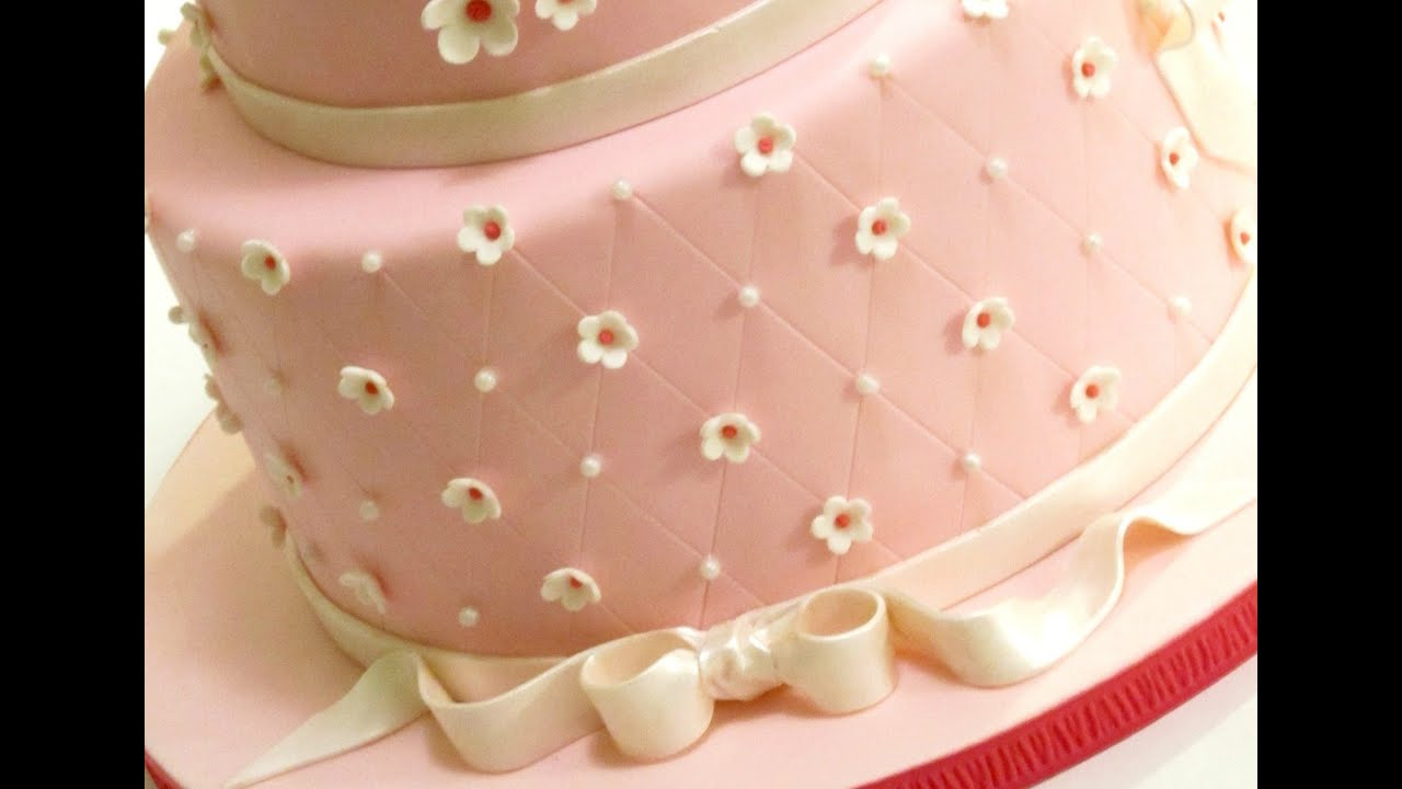 How To Create A Quilted Pattern On Cake