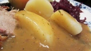 Pork Gravy - How To Make Danish Roast Pork Gravy - Flæskesteg Brun Sovs - Flæskestegssovs