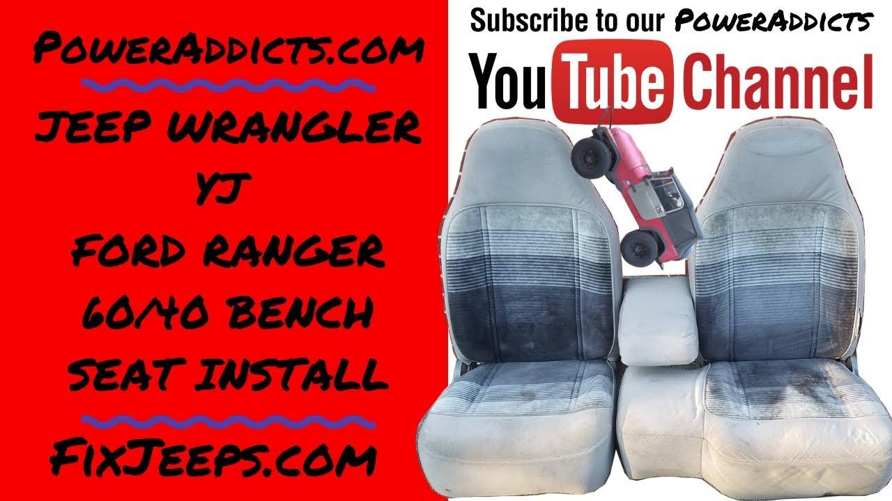 Jeep Wrangler YJ - Ford Ranger Bucket Seats in a YJ #Rangerseatsinayj  #benchseatinayj