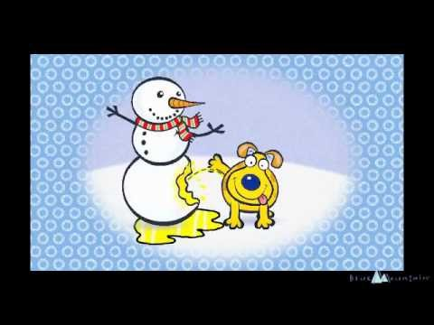 Funny Christmas Animation Dog Pees On Snowman YouTube