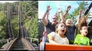 Kristen Rides Her Favorite Roller Coaster! Phoenix at Knoebels! Front Seat POV & Rider Cam!
