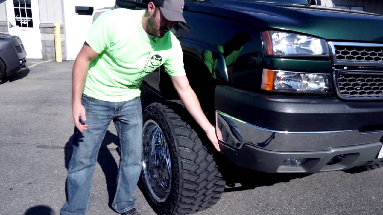 2003 Ford F150 Tires >> Spotlight - 2005 Chevy 2500 HD Duramax on American Force 22's - YouTube
