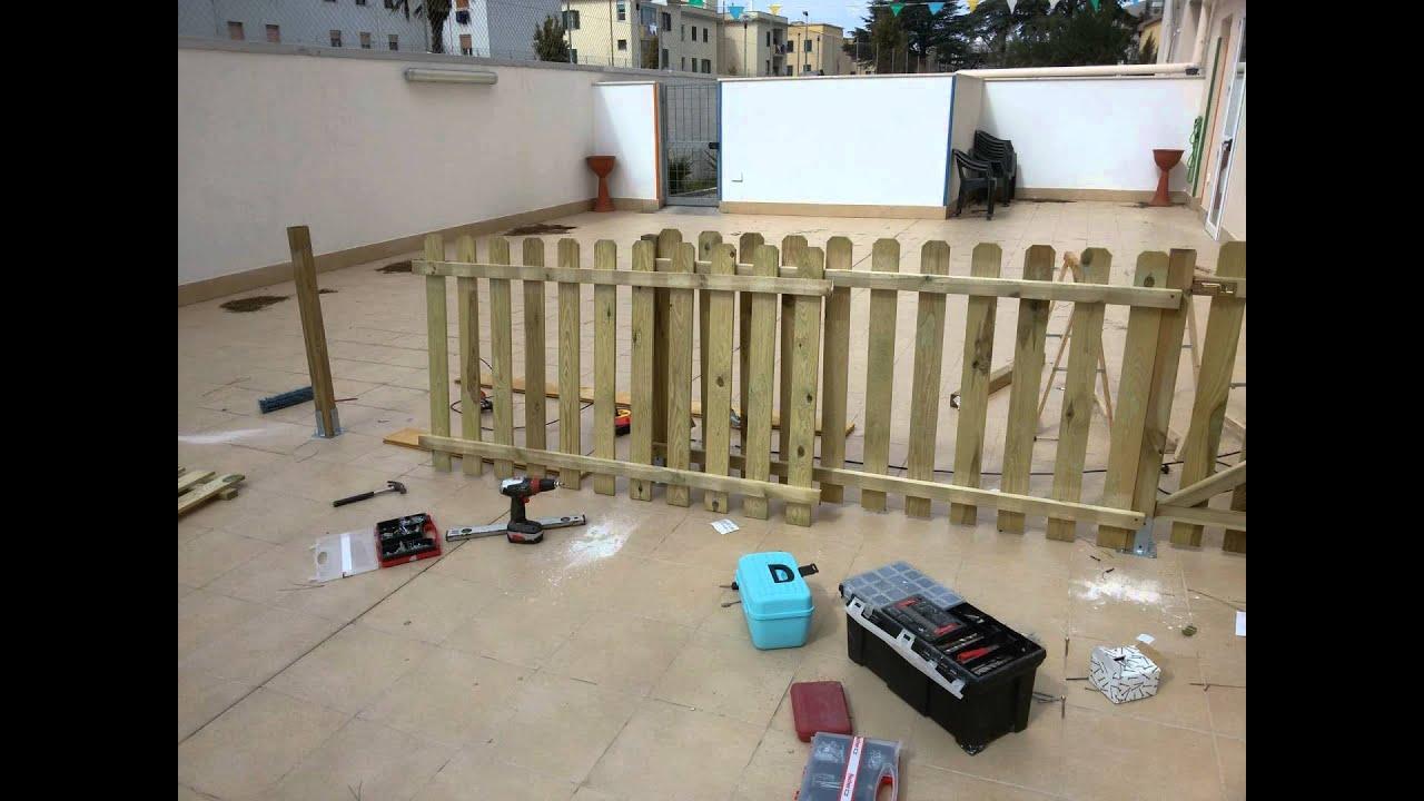 Come creare un recinto in legno youtube - Costruire un giardino ...