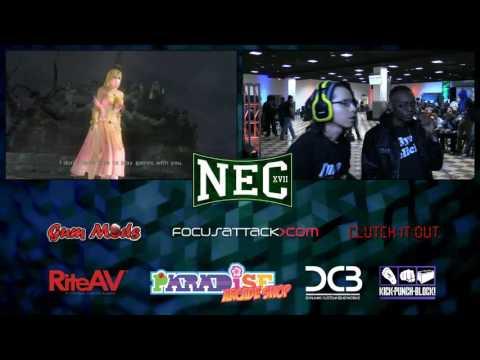 NEC XVII: DOA5LR: SYN Static Shock Vs. UGS Black Moon Rising