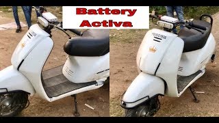 Only Honda Activa in india on battery