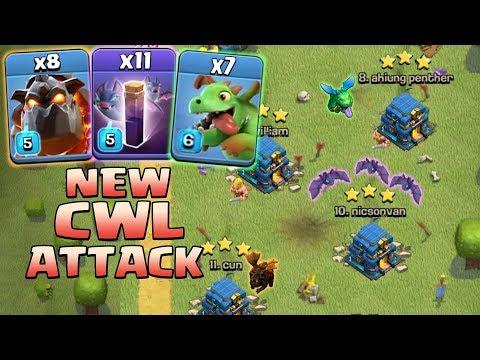 8 Lava + 11 Bat Spell +7 Baby Dragon + Stone Slammer :: NEW CWL TH12 WAR 3 STAR ATTACK STRATEGY 2018