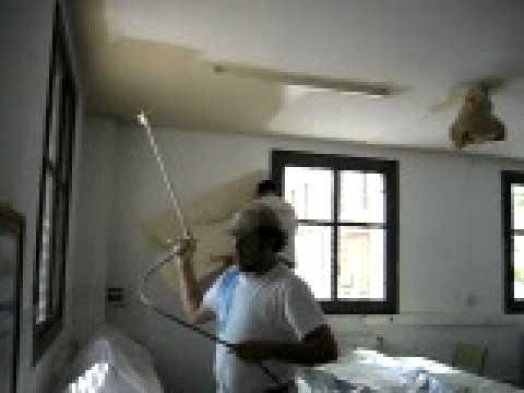 Pintando techo a pistola sin manchar las paredes youtube - Pistola de pintura sin compresor ...