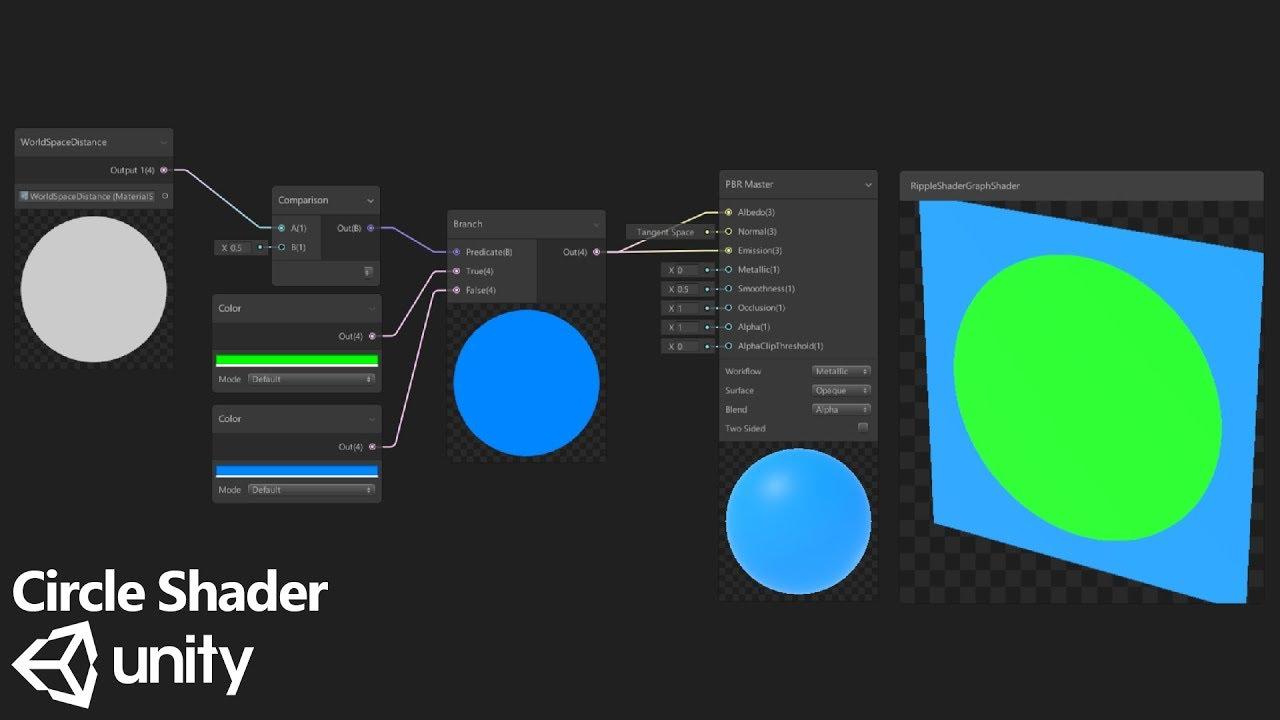 A Circle Shader in Shader Graph - Ripple in Shader Graph - Part 1