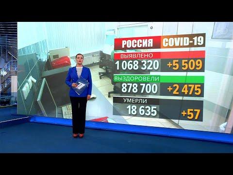Оперштаб по борьбе с коронавирусом: в России за сутки выявлено 5,5 тысяч случаев инфицирования.